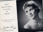 Eloise Knight, class model for local photographic studio- Tattler- 1959