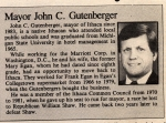 'Our' Ithaca Mayor-John Gutenberger, Class of 1960
