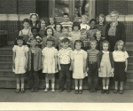 Henry St. John School- 2nd Grade- courtesy of Don Darling. Circa 1951-1st row L-R, Patty Baker,?, ?, ?, Tina Emerick, Wa