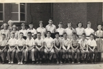 Mrs. Carey's Fall Creek 6th grade    Front - Joe Scaglione, Fred Wilcox, Alan Wurzel, Bill Nelson, Doug Hughes, Arnie H