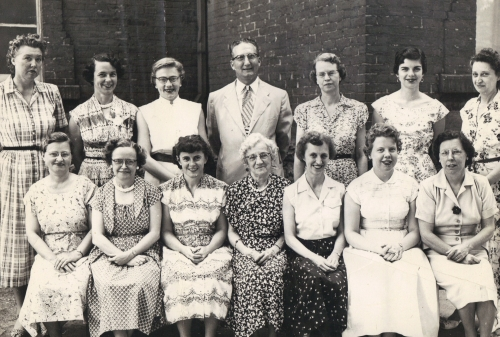 Fall Creek School Faculty Circa 1950s