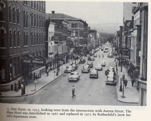 Downtown Ithaca in 1953