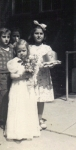front: Mary Avery, Behind: Patty Nefaris holding the May Queen's crown