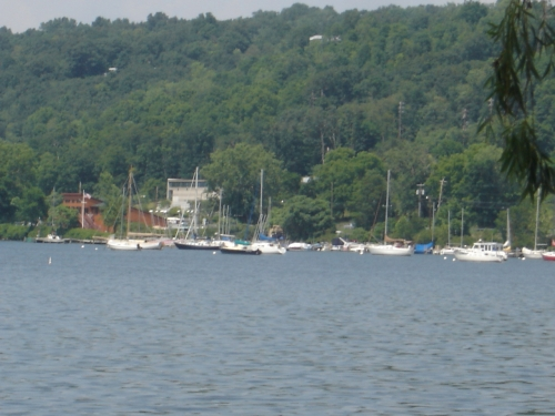 Boats on Cayuga Lake
