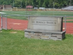 Monument dedicating stadium to long time coach, Joe Moresco