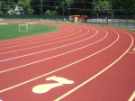 synthetic track surface
