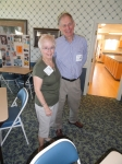 Sylvia Cacciotti and Keith Bruckner at Canal Street Recreation Center sharing old memories