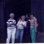 Carol Crass, Dorothy Donahue, Linda Hallam, and Jane Miller
