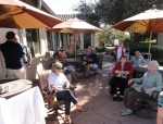 Gathering for class business meeting at Tierra del Sol Country Club