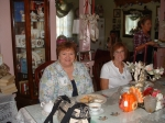 Terry Hilker Donlick and Marilyn Trapp Buckmaster at Polly's Pantry
