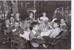 Cayuga Heights Elementary School Christmas Party. This circa 1952 picture was taken at the Statler Hotel on the Cornell