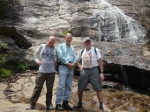 The Hikers: Dave Wilson, Keith Bruckner, and Ron Winchell at the waterfalls of Graveyard Fields in Pisgah National Fores