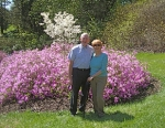 Ron ('60) and Judy Winchell in gardens of Biltmore Estate, Asheville, NC