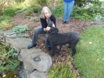 Beverly Brink Hillman and one of her outstanding dogs