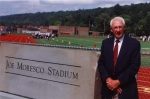 Coach Moresco at  2000 dedication in his honor